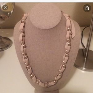 Stella and Dot Pearls and Ribbon Necklace